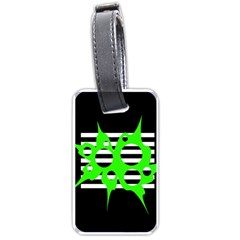 Green abstract design Luggage Tags (One Side)