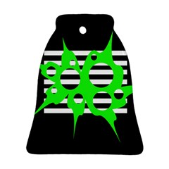 Green abstract design Bell Ornament (2 Sides)