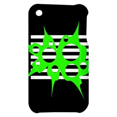 Green abstract design Apple iPhone 3G/3GS Hardshell Case