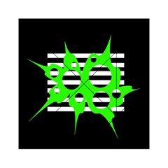 Green abstract design Acrylic Tangram Puzzle (6  x 6 )