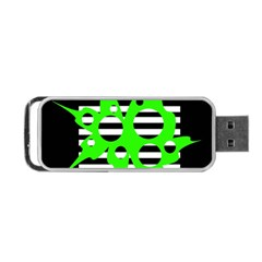 Green abstract design Portable USB Flash (One Side)