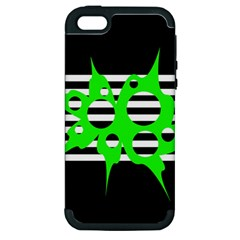 Green abstract design Apple iPhone 5 Hardshell Case (PC+Silicone)