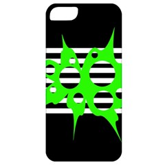 Green abstract design Apple iPhone 5 Classic Hardshell Case