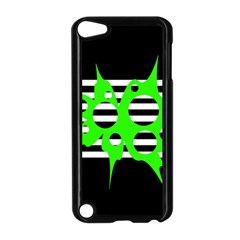 Green abstract design Apple iPod Touch 5 Case (Black)
