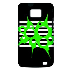 Green abstract design Samsung Galaxy S II i9100 Hardshell Case (PC+Silicone)
