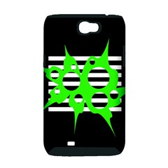 Green abstract design Samsung Galaxy Note 2 Hardshell Case (PC+Silicone)