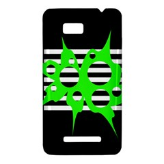 Green abstract design HTC One SU T528W Hardshell Case