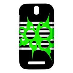 Green abstract design HTC One SV Hardshell Case