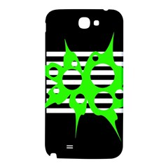 Green abstract design Samsung Note 2 N7100 Hardshell Back Case