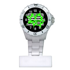 Green abstract design Plastic Nurses Watch