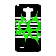 Green abstract design LG G3 Hardshell Case