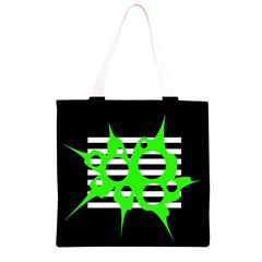 Green abstract design Grocery Light Tote Bag
