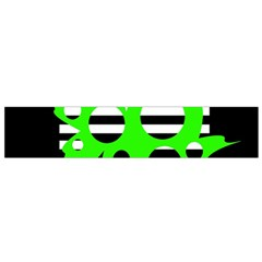 Green abstract design Flano Scarf (Small)