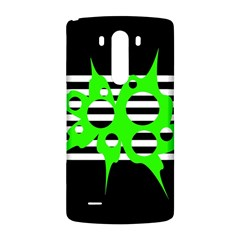 Green abstract design LG G3 Back Case