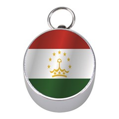 Flag Of Tajikistan Mini Silver Compasses