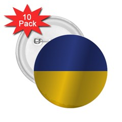 Flag Of Ukraine 2.25  Buttons (10 pack)