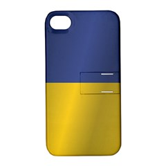 Flag Of Ukraine Apple iPhone 4/4S Hardshell Case with Stand