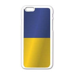 Flag Of Ukraine Apple iPhone 6/6S White Enamel Case