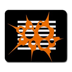Orange abstract design Large Mousepads