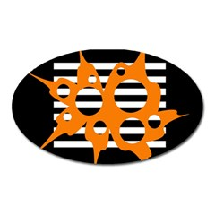 Orange abstract design Oval Magnet