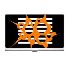 Orange abstract design Business Card Holders