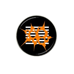 Orange abstract design Hat Clip Ball Marker (10 pack)