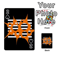 Orange abstract design Playing Cards 54 Designs