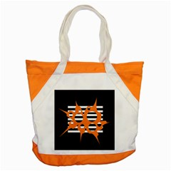 Orange abstract design Accent Tote Bag