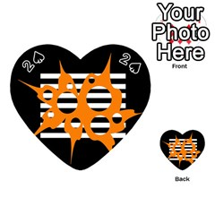 Orange abstract design Playing Cards 54 (Heart)