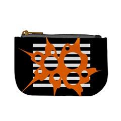 Orange abstract design Mini Coin Purses