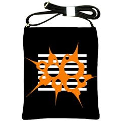 Orange abstract design Shoulder Sling Bags