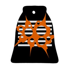 Orange abstract design Ornament (Bell)