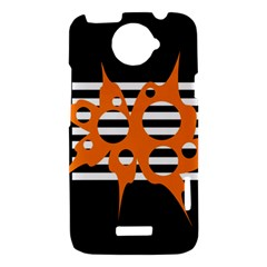 Orange abstract design HTC One X Hardshell Case
