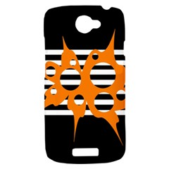 Orange abstract design HTC One S Hardshell Case