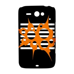Orange abstract design HTC ChaCha / HTC Status Hardshell Case