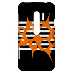 Orange abstract design HTC Evo 3D Hardshell Case