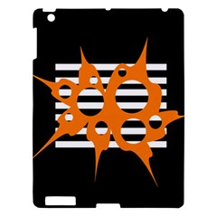 Orange abstract design Apple iPad 3/4 Hardshell Case