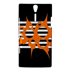 Orange abstract design Sony Xperia S