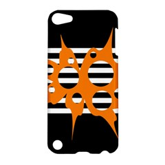 Orange abstract design Apple iPod Touch 5 Hardshell Case