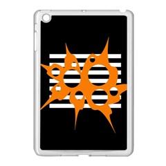 Orange abstract design Apple iPad Mini Case (White)