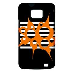 Orange abstract design Samsung Galaxy S II i9100 Hardshell Case (PC+Silicone)