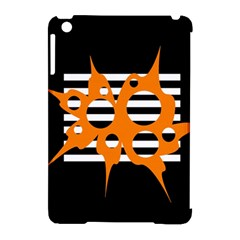 Orange abstract design Apple iPad Mini Hardshell Case (Compatible with Smart Cover)