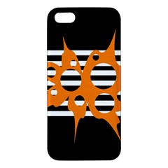 Orange abstract design Apple iPhone 5 Premium Hardshell Case
