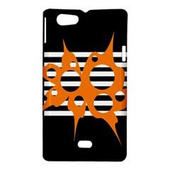 Orange abstract design Sony Xperia Miro