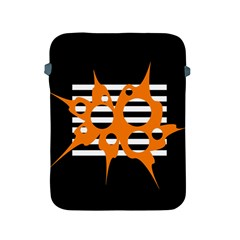 Orange abstract design Apple iPad 2/3/4 Protective Soft Cases