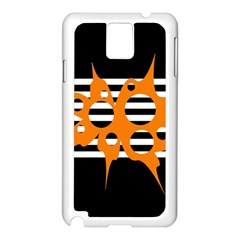 Orange abstract design Samsung Galaxy Note 3 N9005 Case (White)