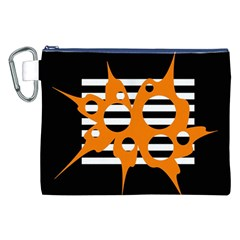 Orange abstract design Canvas Cosmetic Bag (XXL)