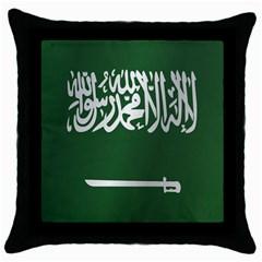 Flag Of Saudi Arabia Throw Pillow Case (Black)