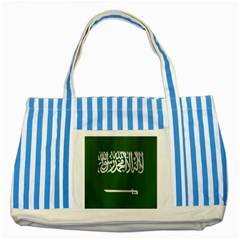 Flag Of Saudi Arabia Striped Blue Tote Bag