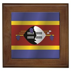 Flag Of Swaziland Framed Tiles